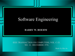 Survey of Software Engineering CS 5391.1