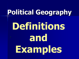 Political Geography - Utah Education Network