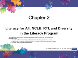 Chapter 11 Diversity in the Classroom