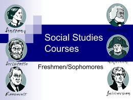 Social Studies Courses - Schaumburg High School
