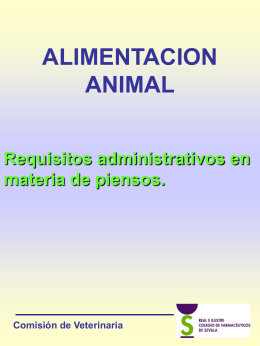 ALIMENTACION ANIMAL