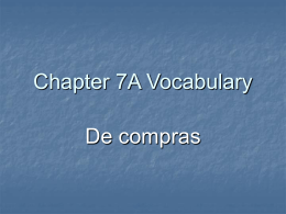Chapter 7A Vocabulary