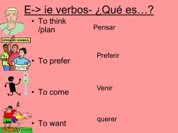 E-> ie verbos-