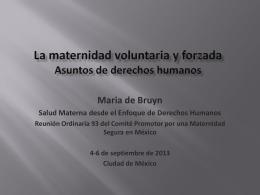 Maternidad voluntaria y aborto Un asunto de derechos …