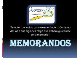 Memorandos