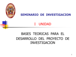SEMINARIO DE INVESTIGACION - Biblioteca Central de la