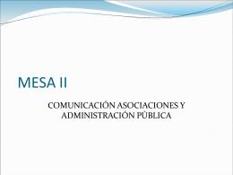 MESA II - Redes Interculturales