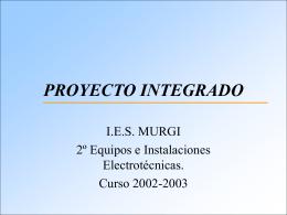 PROYECTO INTEGRADO
