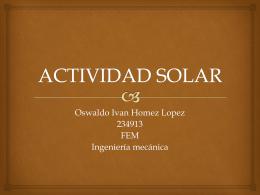 ACTIVIDAD SOLAR - fem2012