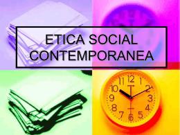 ETICA SOCIAL CONTEMPORANEA