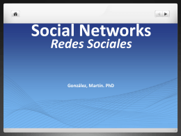 Redes Sociales Social Networks
