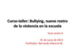 Curso-taller: Bullying, nuevo rostro de la violencia en la