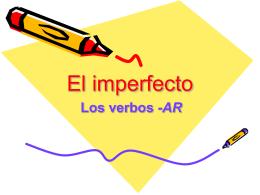 El Imperfecto - Cuaderno Espanol