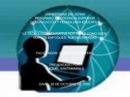 UNIVERSIDAD DEL ISTMO POSGRADO EN DOCENCIA …