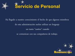 Servicio de Personal
