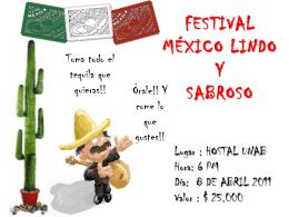 FESTIVAL DE COCINA MEXICANA