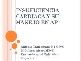 Insuficiencia cardiaca y su manejo en AP