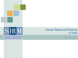 Human Resource Management Practices India
