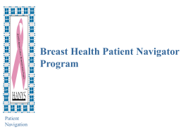 Breast Health Patient Navigation Program