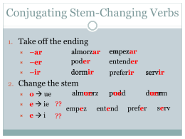 Stem-Changing Verbs Practice