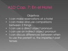 ASD Cap. 7: En el Hotel