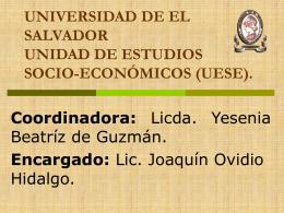 UNIVERSIDAD DE EL SALVADOR UNIDAD DE ESTUDIOS …