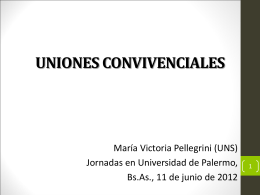 UNIONES CONVIVENCIALES - Universidad de Palermo, UP