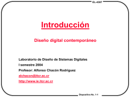 Chapter # 1: Introduction Contemporary Logic Design