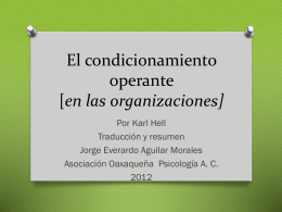 El condicionamiento operante en las organizaciones