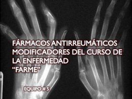 FARMACOS ANTIRREUMATICOS MODIFICADORES DEL …