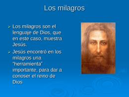 Los milagros - didactica de religion escolar basica y media
