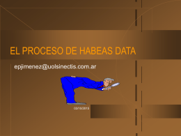 EL PROCESO DE HABEAS DATA - Profesor Eduardo Jimenez