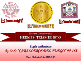 "HERMES ""TRISMEGISTO"""
