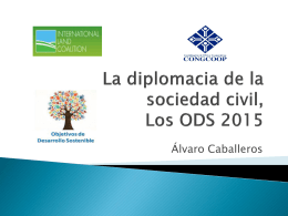 La diplomacia de la sociedad civil, post 2015.