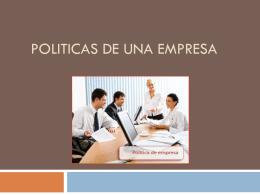 POLITICAS DE LA ORGANIZACION
