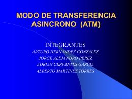 MODO DE TRANSMISION ASINCRONO (ATM)