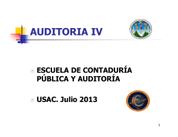 Microsoft PowerPoint - CURSO DE AUDITORIA IV