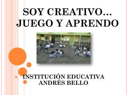 SOY CREATIVO… JUEGO Y APRENDO