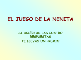 AG2- EL JUEGO DE LA NENITA