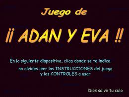 AG2- Adan y Eva (juego)