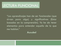 Lectura funcional - didacticadiferencialI