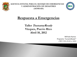 Protocolo tsunami Puerto Rico