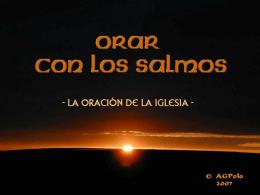 SALMO 29 - Liturgia de las Horas, Oficio Divino