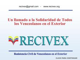 Un llamado a la Solidaridad de todos los Venezolanos en …