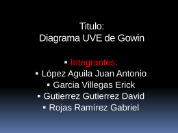 Titulo: Diagrama UVE de Gowin