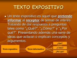 TEXTO EXPOSITIVO - Grupo UNA