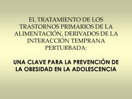 EL TRATAMIENTO DE LOS TRASTORNOS PRIMARIOS DE …