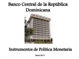 Banco Central de la Republica Dominicana - captac