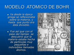 MODELO ATOMICO DE BHOR