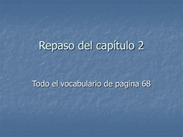 Repaso del capitulo 2